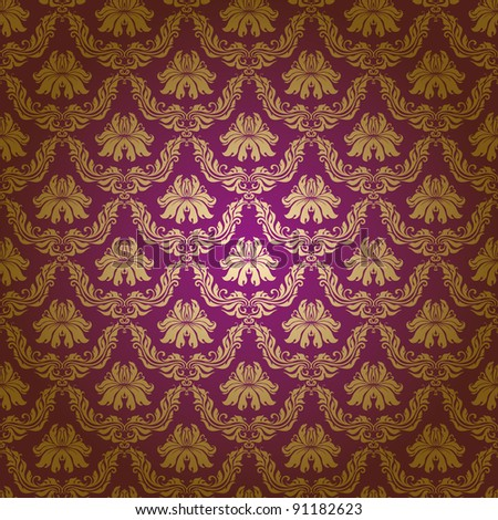 Seamless floral pattern. Flowers on a purple background. EPS 10