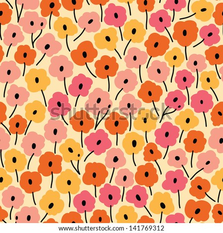 Seamless floral pattern. Flowers texture.