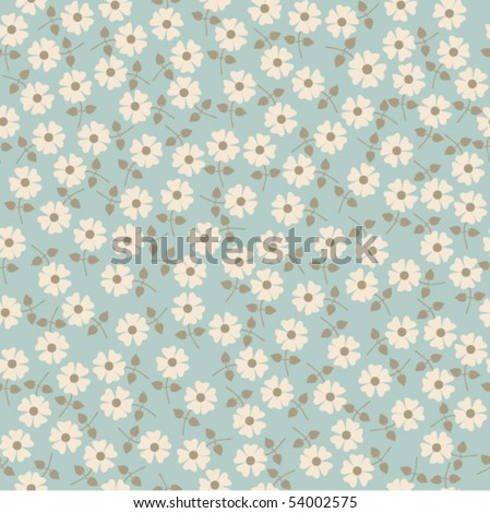 Seamless floral pattern. Flowers texture. Daisy. - stock vector