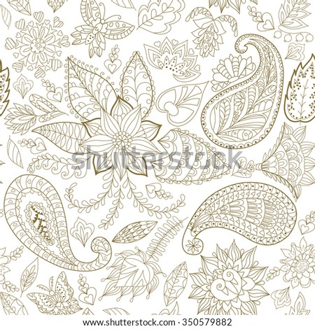 Seamless Floral Pattern for Fabric and Decoration.