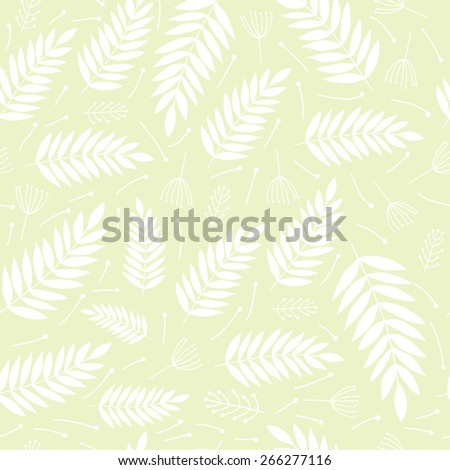 Seamless floral pattern in natural colors. Vector illustration. - stock vector