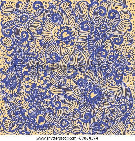 seamless floral pattern in vector - stock vector