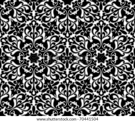 Seamless floral pattern - vector background for continuous replicate. - stock vector