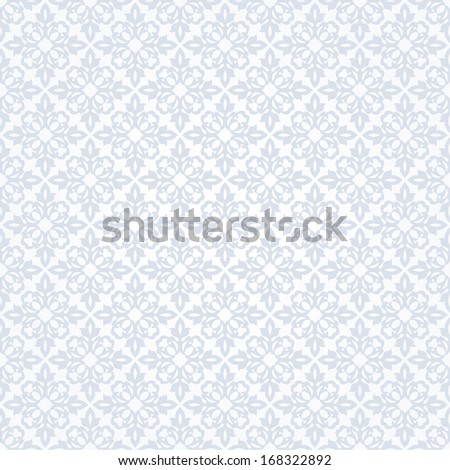 Seamless floral pattern. Vector blue background. - stock vector