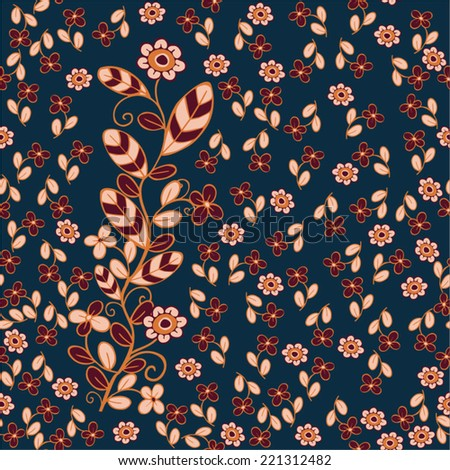 Seamless floral pattern.  Vector eps 10 illustration