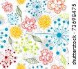 Seamless floral pattern, vector illustration - stock vector