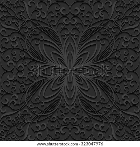 Seamless floral pattern. Vector illustration.  - stock vector