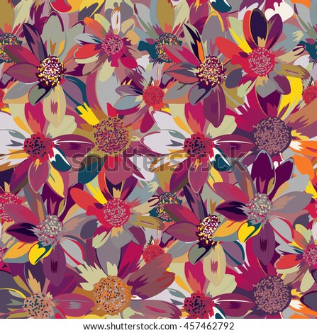 Seamless floral pattern .  Vector illustration.?
