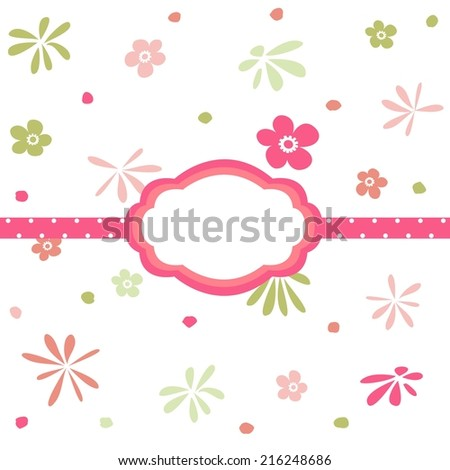 Seamless floral pattern, wallpaper  - stock vector