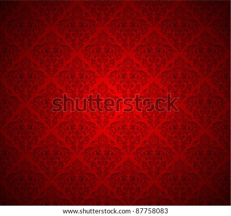 Seamless floral tiled against with colorful background - stock vector