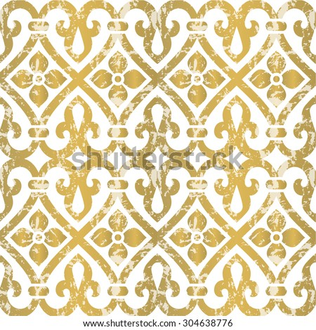 Seamless floral tiling pattern. Inspired by old ornaments - stock vector