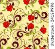seamless floral vector - stock vector
