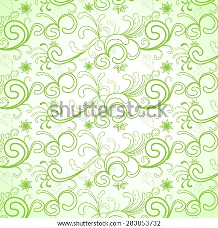 Seamless Floral vector background - stock vector