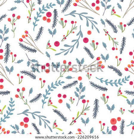 Seamless floral vector pattern.  - stock vector