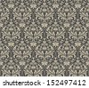 Seamless Floral Vintage Pattern - stock photo