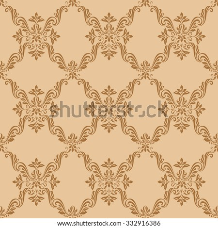 Seamless floral vintage pattern background, luxury style - stock vector