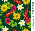 Seamless flower pattern - stock