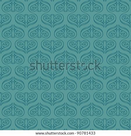 Seamless Flower Pattern-Hand drawn seamless elegant pattern. Easy to Edit! - stock vector