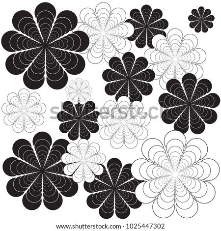 Seamless flower pattern. Vector