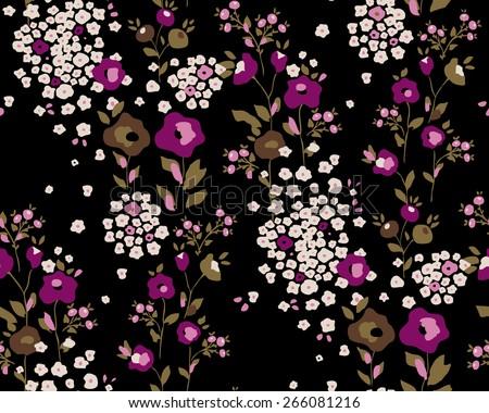 Seamless flower pattern. Vector illustration - stock vector