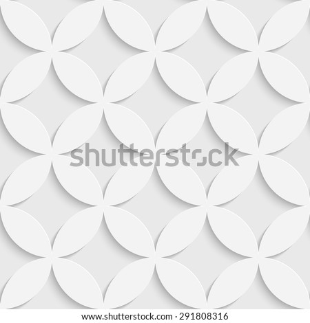 Seamless Flower Pattern. Vector Soft Background. Regular White Texture - stock vector