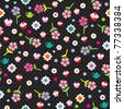 Seamless flower tea pot and cup cake pattern background in vector - stock vector
