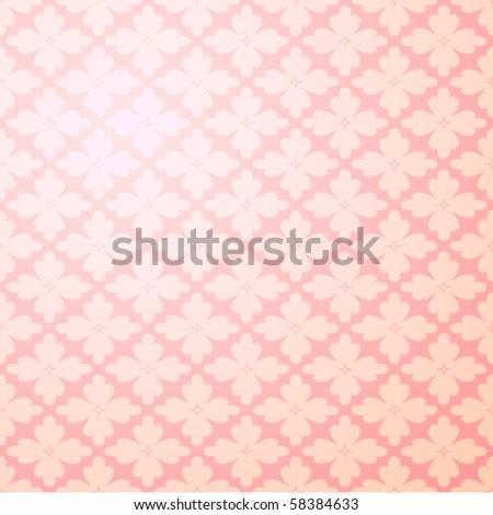 Seamless flower wallpaper - stock vector