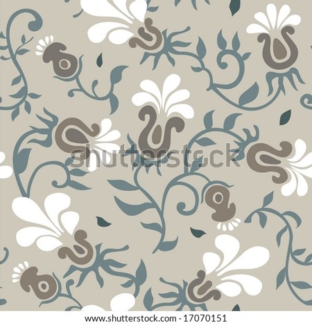 seamless flowers - stock vector