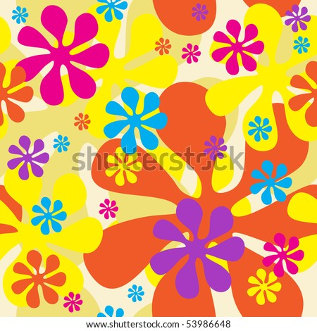 Seamless Flowers Background (can be repeated seamlessly as many times as needed)