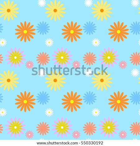 seamless flowers vector pattern background