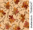 Seamless foliage background. Vector illustration. - stock vector