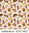 seamless food pattern - stock vector