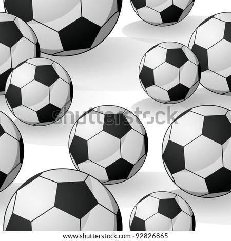 Seamless Football Pattern - stock vector