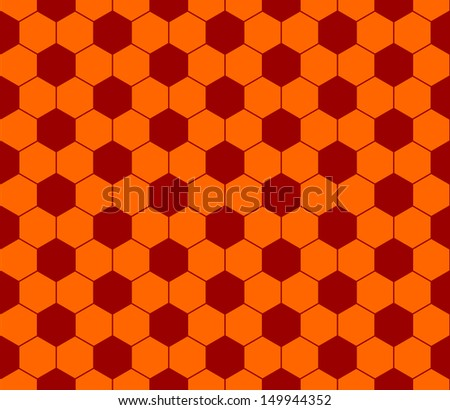 Seamless football pattern red orange. EPS 10 vector file included - stock vector