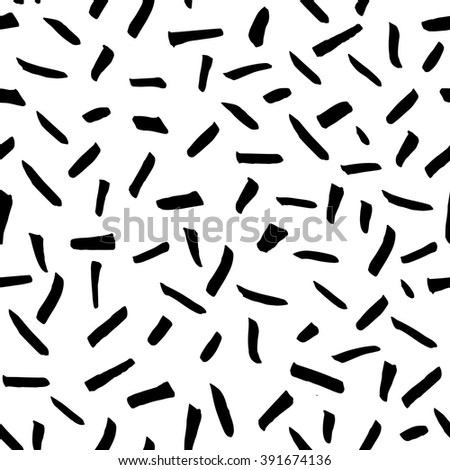 Seamless freehand drawn background uneven texture with random strokes