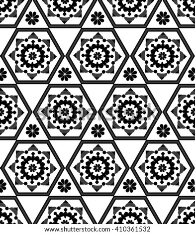 Seamless from arabic geometric motif.Decorative seamless