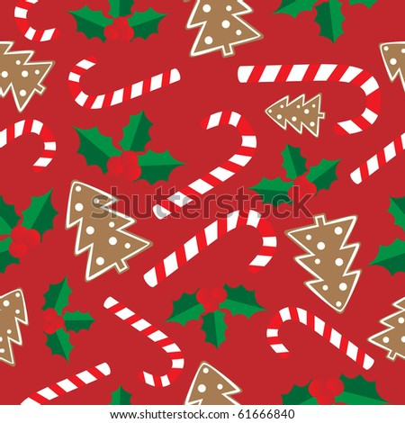 Seamless from Christmas elements - stock vector