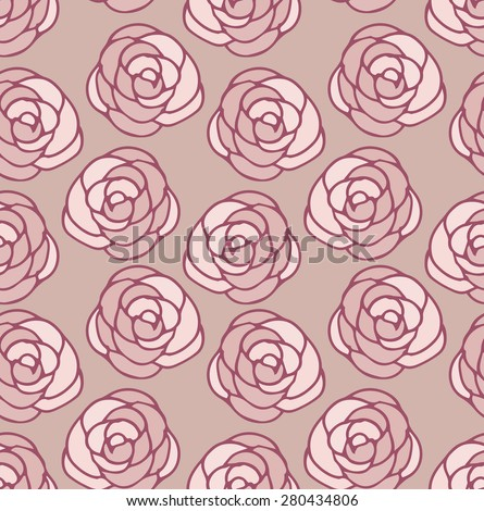 Seamless from roses - stock vector