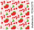 Seamless fruit pattern. vector - stock vector