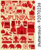 seamless fun fair vector/illustration - stock vector
