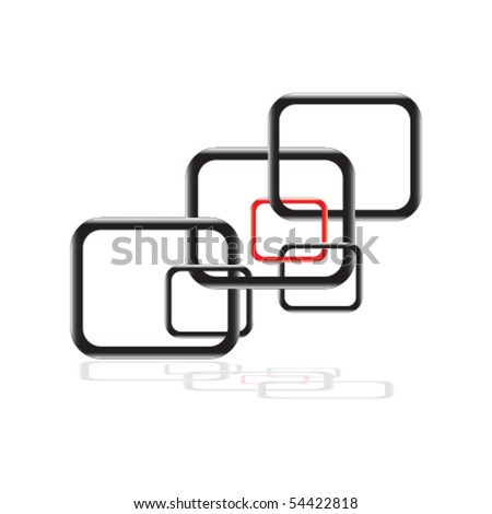 Seamless Futuristic Pattern -Reflection easily removable if desired- - stock vector