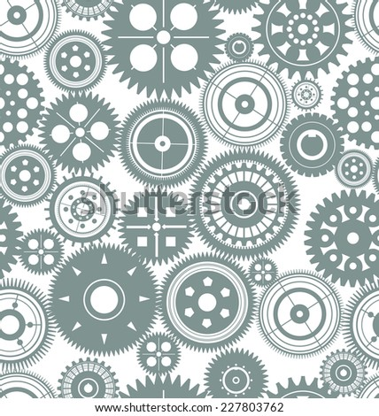 Seamless gear background - stock vector