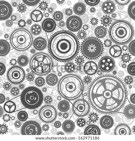seamless gearwheel mechanism, vector illustration - stock vector
