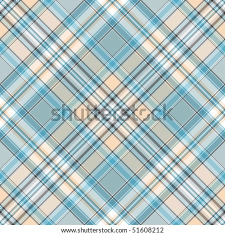 Seamless gentle blue, pink and white diagonal pattern (vector EPS 10) - stock vector