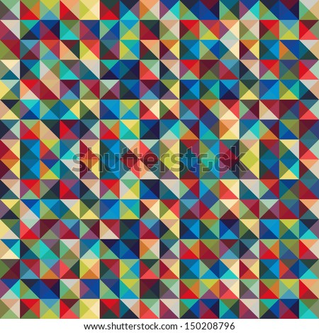 Seamless geometric abstract decorative background