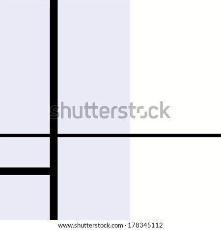 Seamless geometric abstract pattern black and white - stock vector