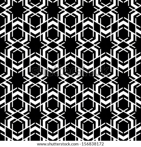 Seamless geometric abstract pattern. Black and white style pattern.  - stock vector