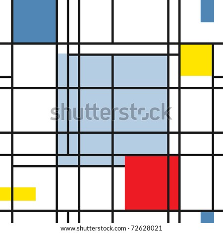 Seamless geometric abstract pattern in style suprematism art - stock vector