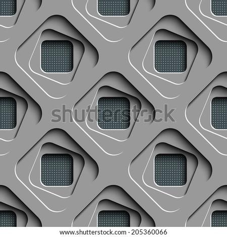 Seamless Geometric Background - stock vector