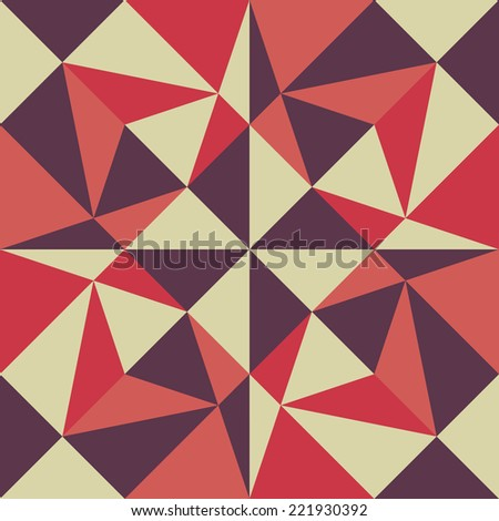 Seamless geometric background. Abstract vector Illustration. Pattern with triangle mosaic. Can be used for wallpaper, web page background, book cover.